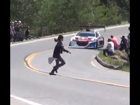 Idiots run in front of Sebastien Loeb  - PPIHC 2013 Record Run