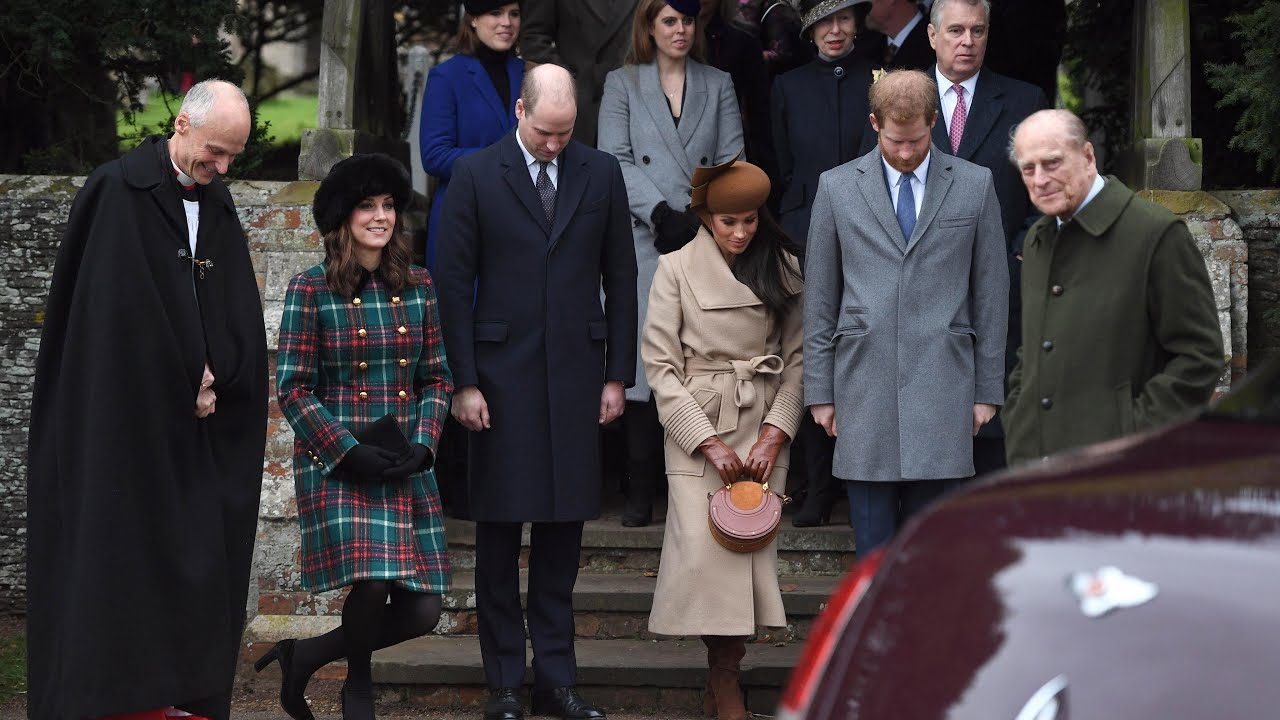 Meghan Markle Christmas.Royal Family Joined By Meghan Markle For Christmas Day Service