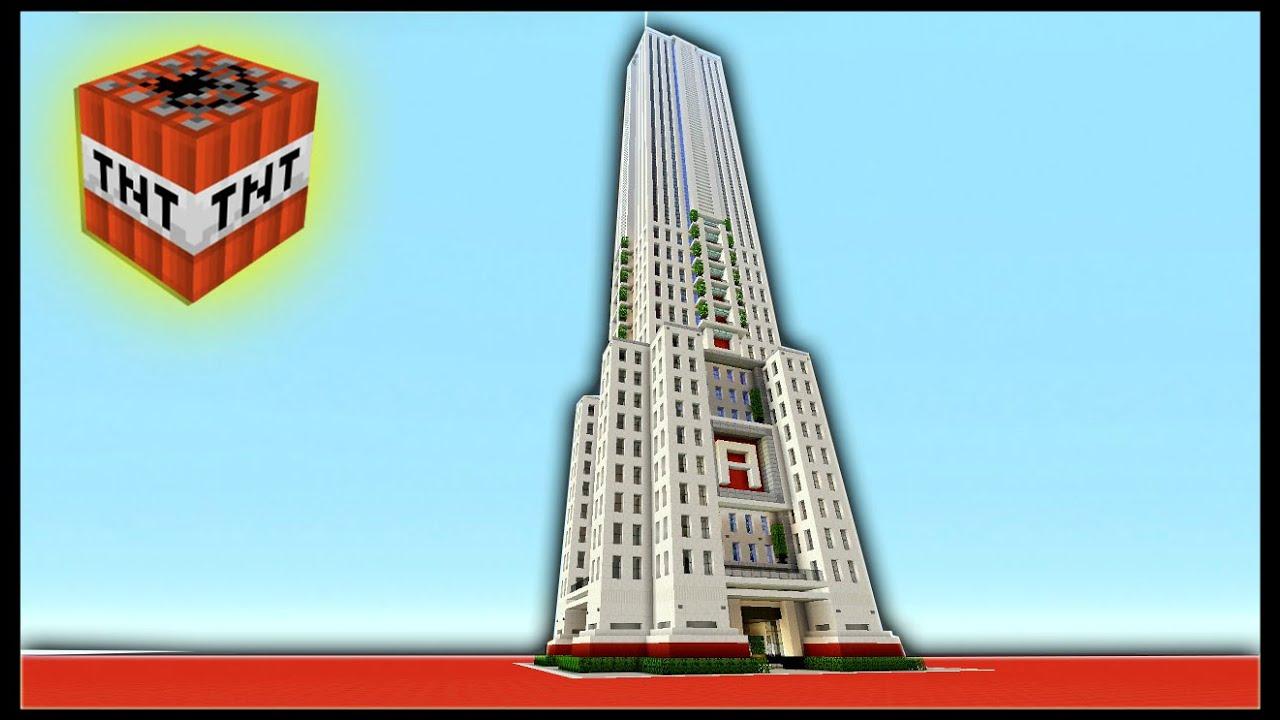 minecraft ps4 sky scraper futuristic skyscraper tnt