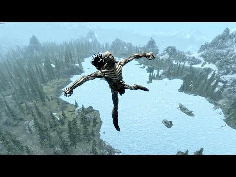 Drinking 120 bottles of Skooma and literally spinning across Skyrim