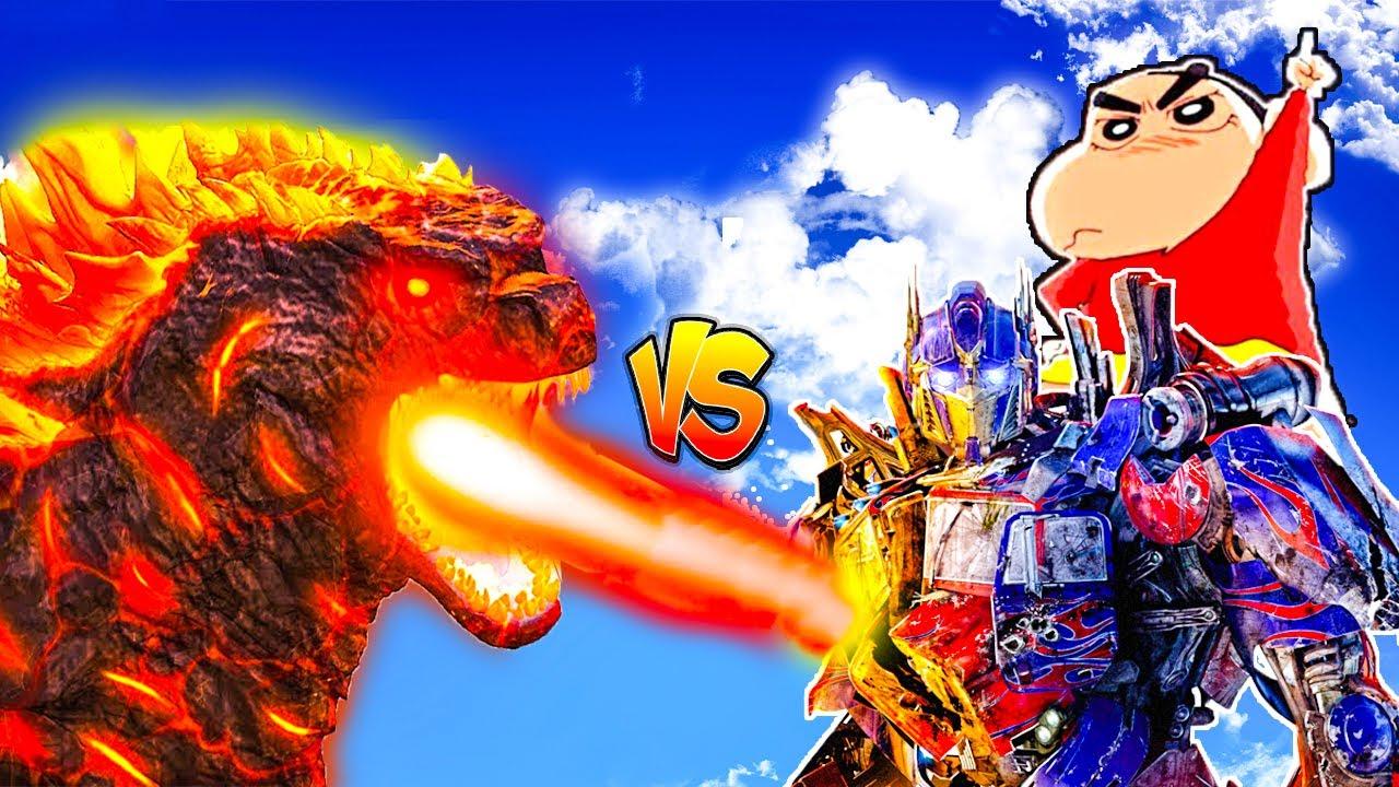 Download LAVA GODZILLA vs IRON MAN BUSTER ROBOT Fight in Gta 5   Giant Power Titan Attack