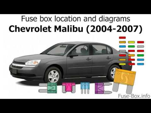 Fuse box location and diagrams: Chevrolet Malibu (2004-2007) - YouTubeYouTube