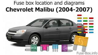 Fuse box location and diagrams: Chevrolet Malibu (2004-2007) - YouTube | 2004 Chevrolet Malibu Fuse Box |  | YouTube