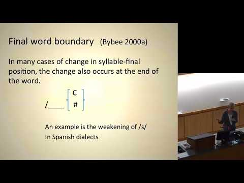 LSA 2017 - Joan Bybee - Public Lecture August 1st