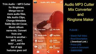 ✅ HOW TO ? - Audio MP3 Cutter Mix Converter and Ringtone Maker ✅ ( best free android apps )