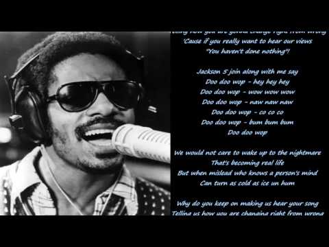 Stevie Wonder-You haven't done nothin' Lyrics