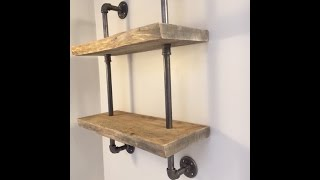 How To Make Live Edge Wood Shelf With Gas Pipe