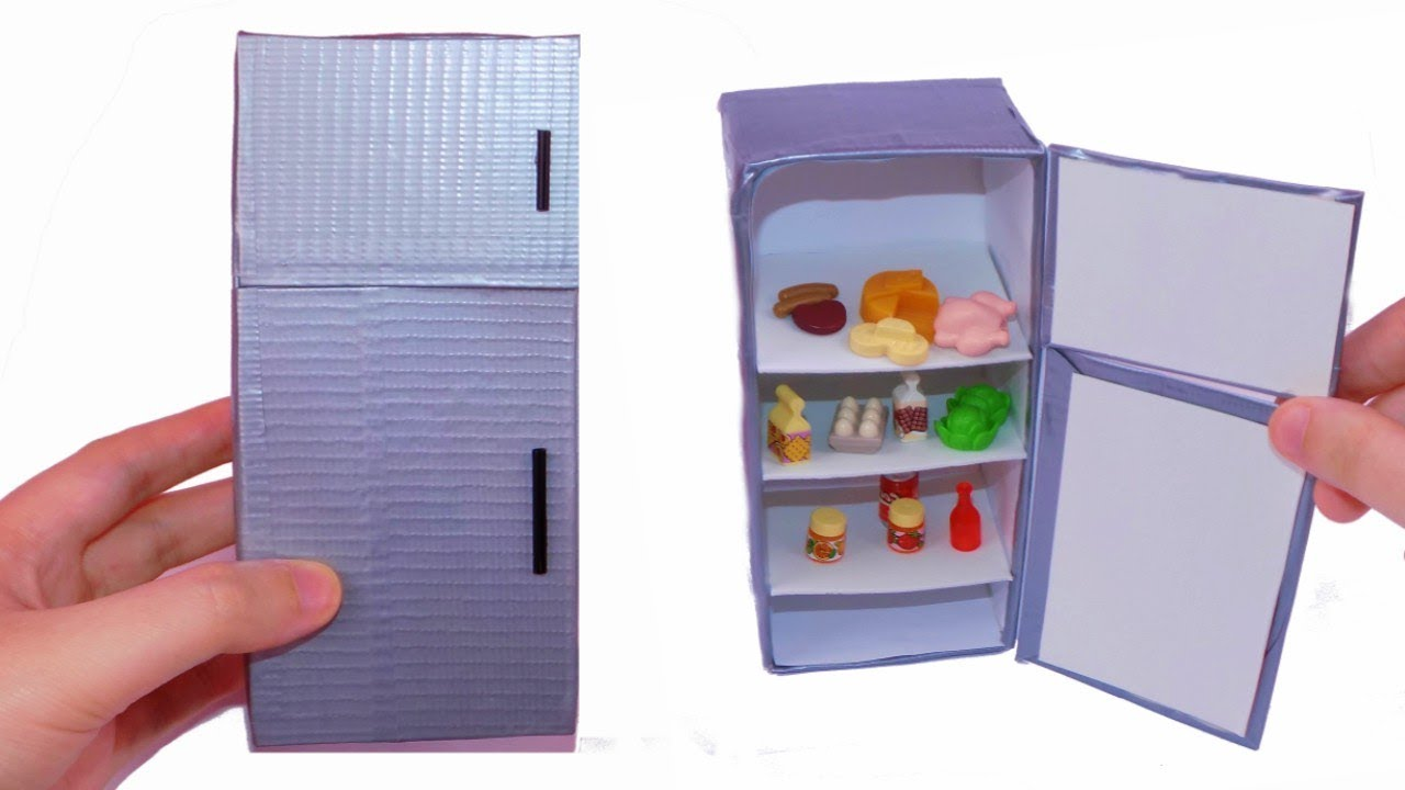 diy miniature dollhouse working fridge - how to make miniature dollhouse  things