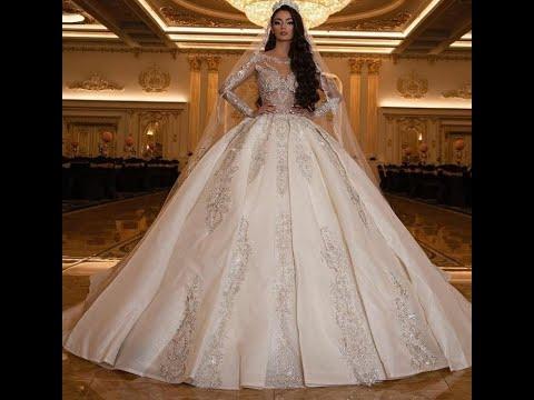 Самые красивые свадебные платья в королевском стиле❤️#34