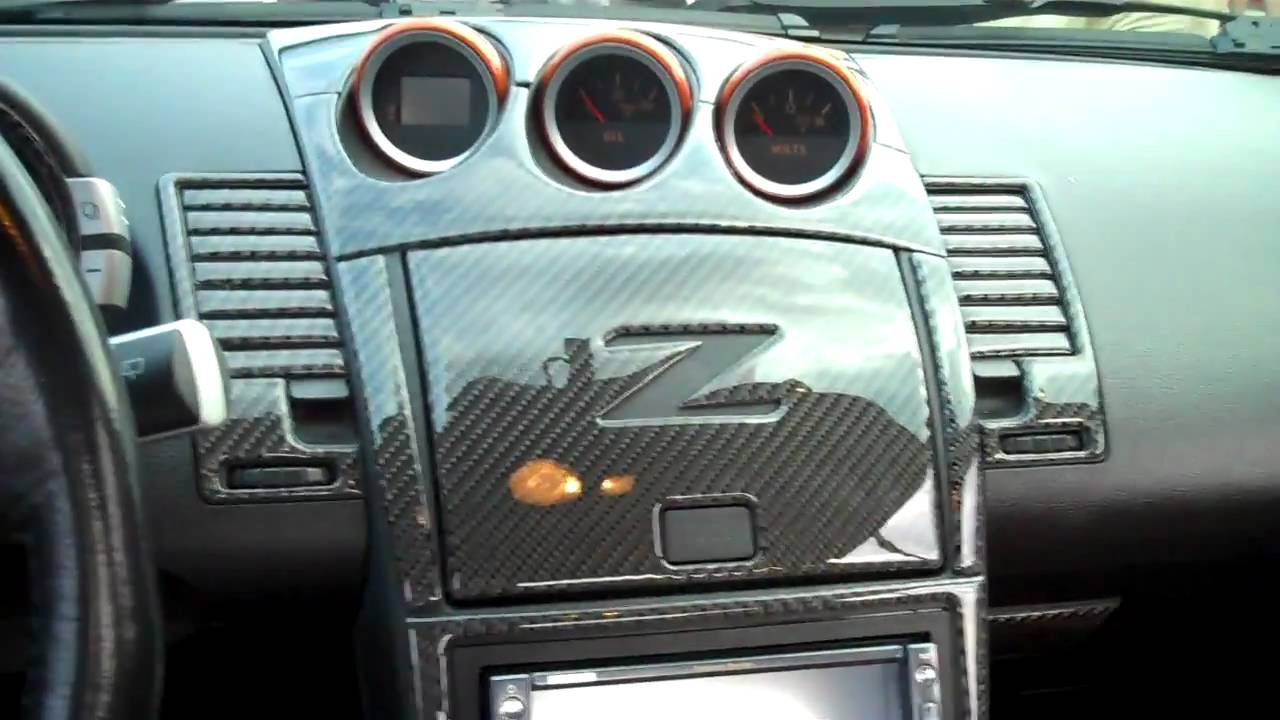 2004 nissan 350z carbon fiber kit youtube for 350z interior replacement parts