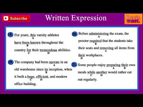 TOEFL Structure & Written Expression Full Practice Test 37 with Analysis