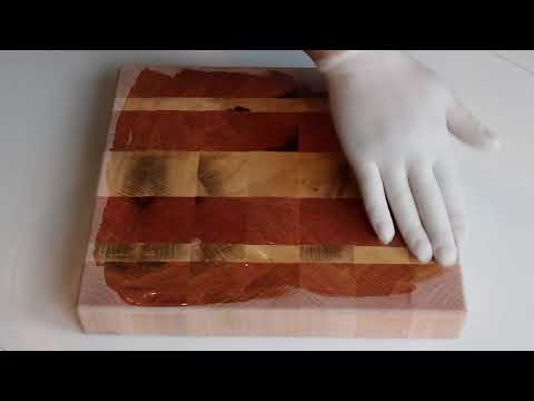 Cutting Board gets it's Mineral Oil