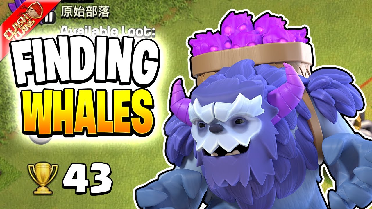 Starting to find WHALES on the TH6 Push to Legends! (Clash of Clans)