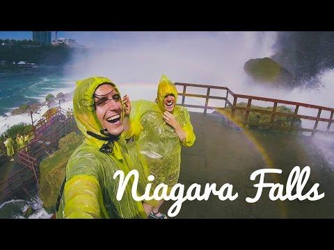 STANDING UNDER NIAGARA FALLS! - Travel Vlog