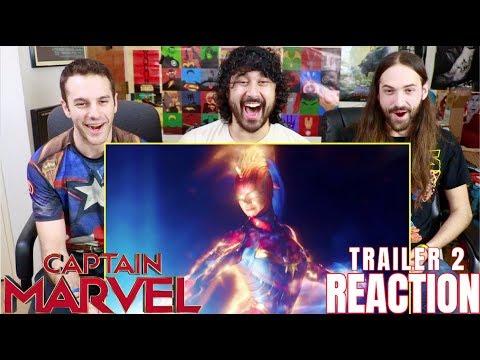 CAPTAIN MARVEL - TRAILER #2 - REACTION!!!