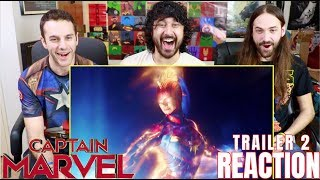 CAPTAIN MARVEL - TRAILER #2 - REACTION!!!
