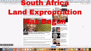 South Africa Land Expropriation Has Begun