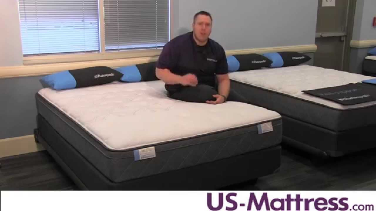 Sealy Posturepedic Main Stable Cushion Firm Euro Top Mattress Youtube