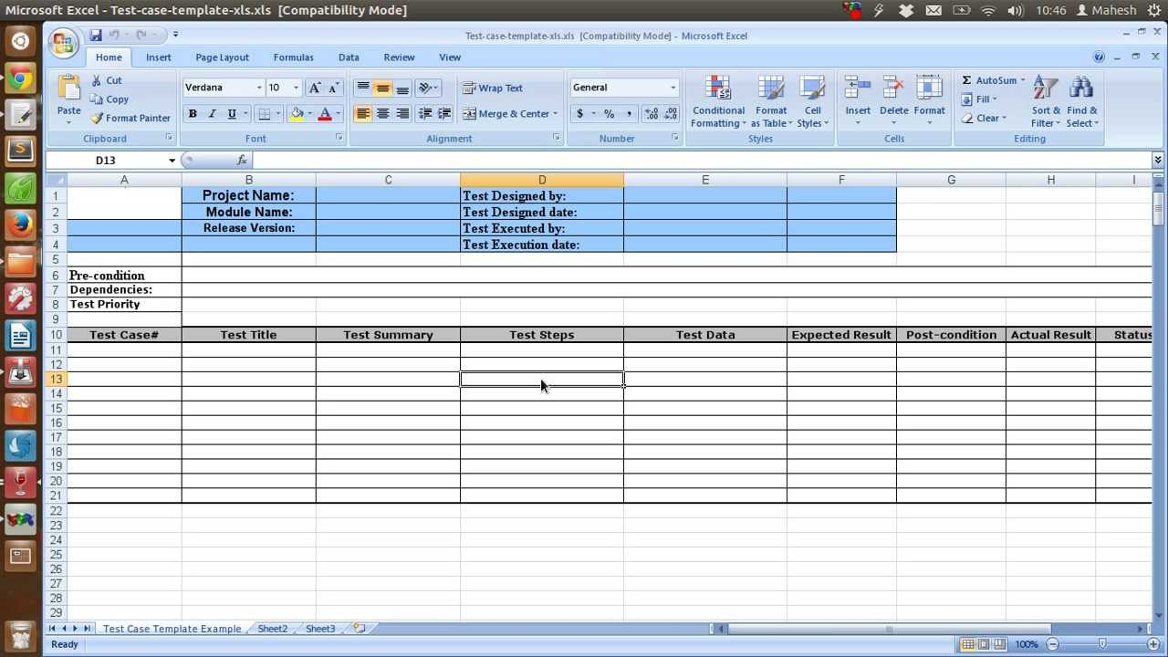 how to write a test plan template