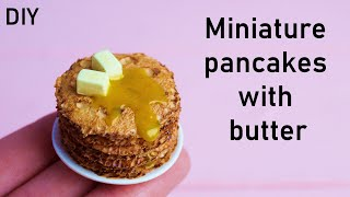 """Миниатюрные блины с маслом. Кукольная кухня. Серия """"Готовим блины"""""""