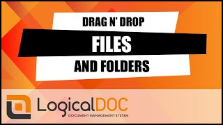 Drag & Drop files and folders into the Document Management System (Drop Spot)