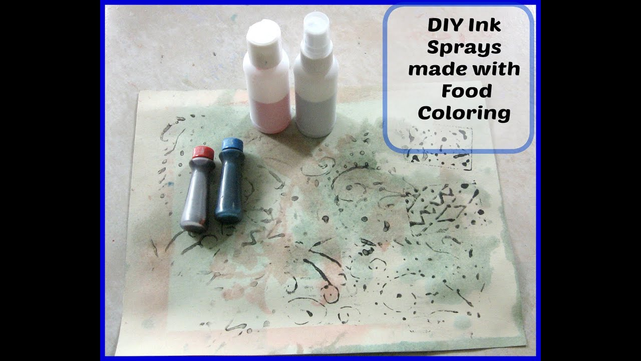 DIY Homemade Ink Sprays/ Mist using food coloring/ MAKING MIXED ...
