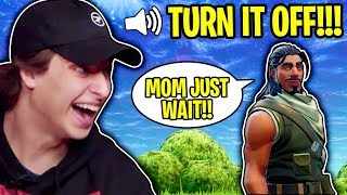 TROLLING HIS MOM IN FORTNITE BATTLE ROYALE!!
