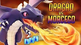 Clash Of Clans - Dragão vs. Morcego | PT em Cv7 Full Dragão - YoshInPlay
