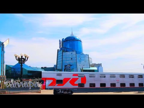 Вид из окна поезда.Самара. Красивый вокзал Самары..Samara. Beautiful Station Of Samara.Russia