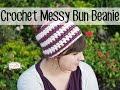 Crochet 1 hour Messy Bun Beanie | Sewrella