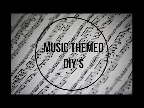 Music Themed Decor + Clothing DIY's!