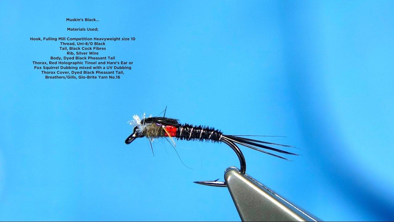 Muskin S Black Midge Pupa Global Flyfisher