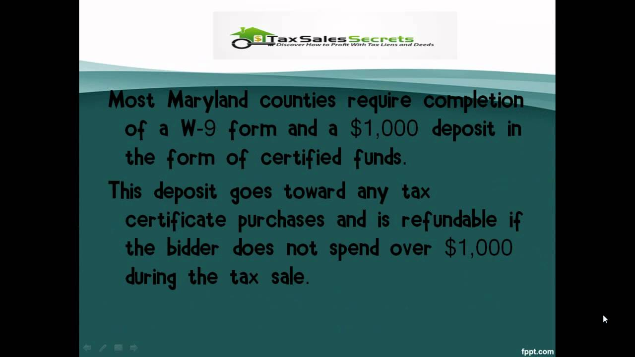 Maryland tax liens youtube maryland tax liens xflitez Image collections