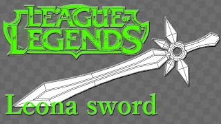 League of legends Leona sword papercraft