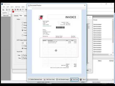 OCR scan PDF and update your database using BPA Server