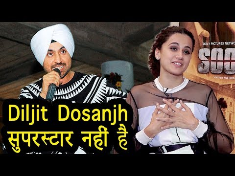 Taapsee Pannu SHOCKING Comment On Diljit Dosanjh ! Soorma Movie Interview