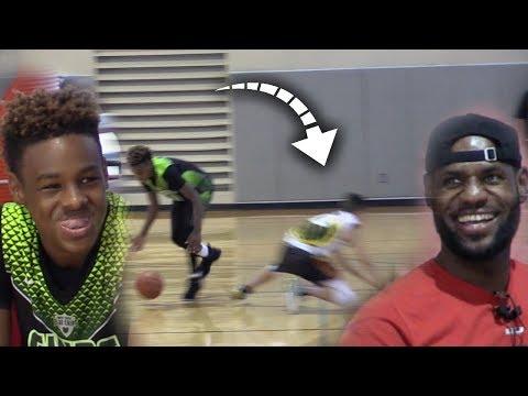 LeBron James WATCHES HIS SON BREAK ANKLES!