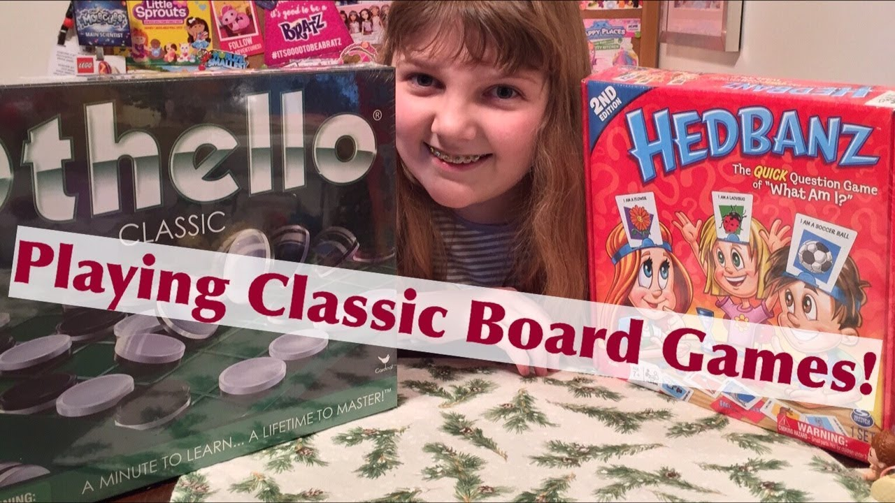 Playing Classic Board Games from Spin Master – Othello & Hedbanz – Unboxing & Review