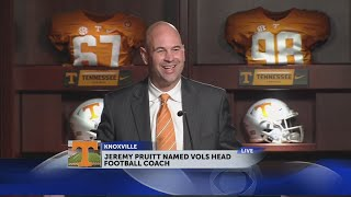 UT Vols introduce Jeremy Pruitt as next head football coach