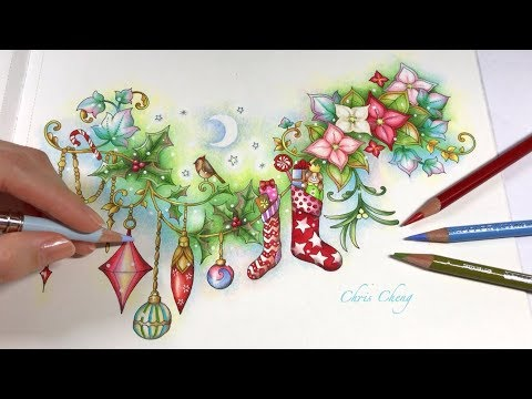 MERRY CHRISTMAS | Johanna's Christmas Coloring Book | Chris Cheng