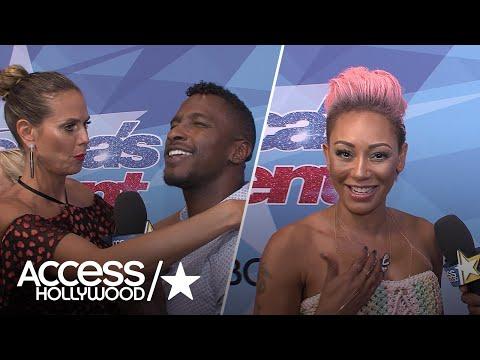 'AGT': Mel B & Heidi Klum Get Handsy with Host Scott Evans