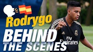 Why does Rodrygo speak Spanish so well?