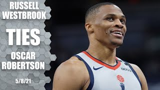 Russell Westbrook ties Oscar Robertson for all-time triple-doubles ‼️ | NBA Highlights