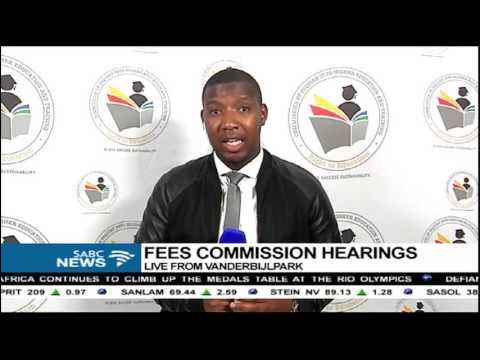 Update on the Fees Commission hearing in Vanderbijlpark