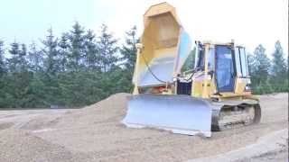 Cat D5G LGP Dozer Grading Gravel Road