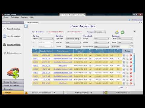 Car Rental Software (Gestion agence de location)