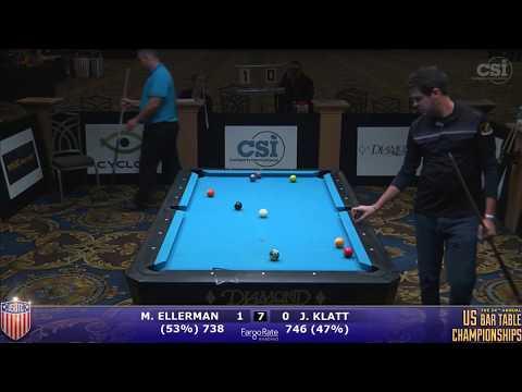 2017 US Bar Table Championships 10-Ball: Mitch Ellerman vs Jason Klatt
