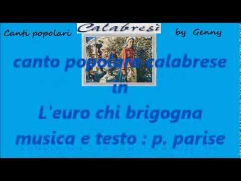 POPOLARE CALABRESE Leuro chi brigogna karaoke
