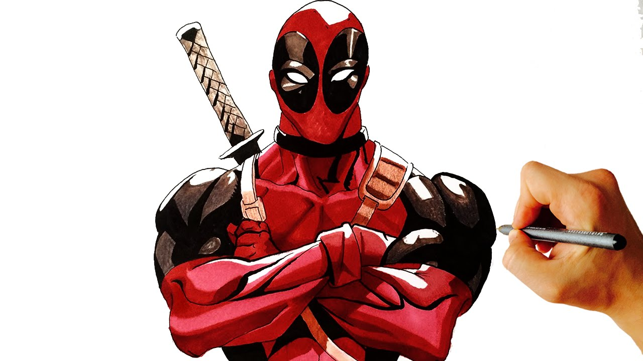 How to draw deadpool from marvel easy step by step drawing lesson facedrawer