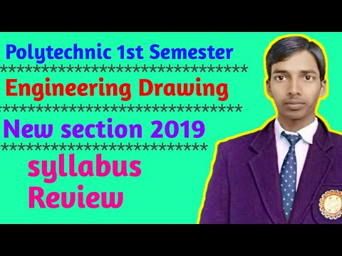 Engineering Drawing for polytechnic diploma student // Engineering Drawing syllabus 2019 #upbte